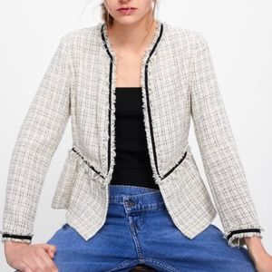 Zara Short Tweed Jacket